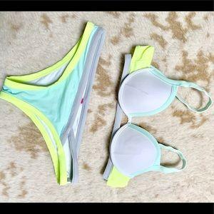 VS The Fabulous Padded Bikini Top and Bottom Set